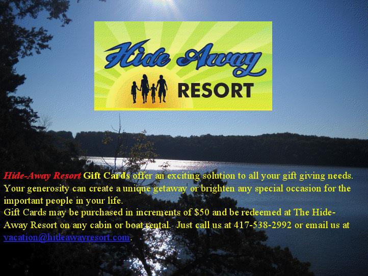 Table Rock lake resort | Vacation Table Rock | Hideaway Resort
